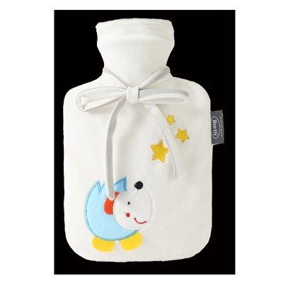 hello小店-可愛小號注水熱水袋安全防爆刺繡絨布暖水袋PVC暖手袋傳統#熱水袋#冬天保暖#暖水袋
