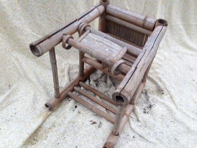 早期竹製品母子椅藏品出讓-3〈〈大件家具運費無法合併〉