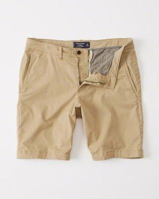 Maple麋鹿小舖 Abercrombie&Fitch * AF 卡其色休閒短褲 * ( 現貨33號 )
