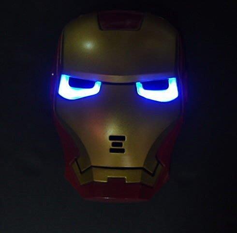 佳佳玩具 -----  鋼鐵人  燈光面具 發光卡通面具 party 化妝舞會 角色扮演 【CF124212】