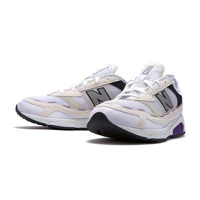 =E.P=NEW BALANCE X-RACER 米白 紫色 復古慢跑 麂皮 網布 拼接 老爹 男 MSXRCHTE