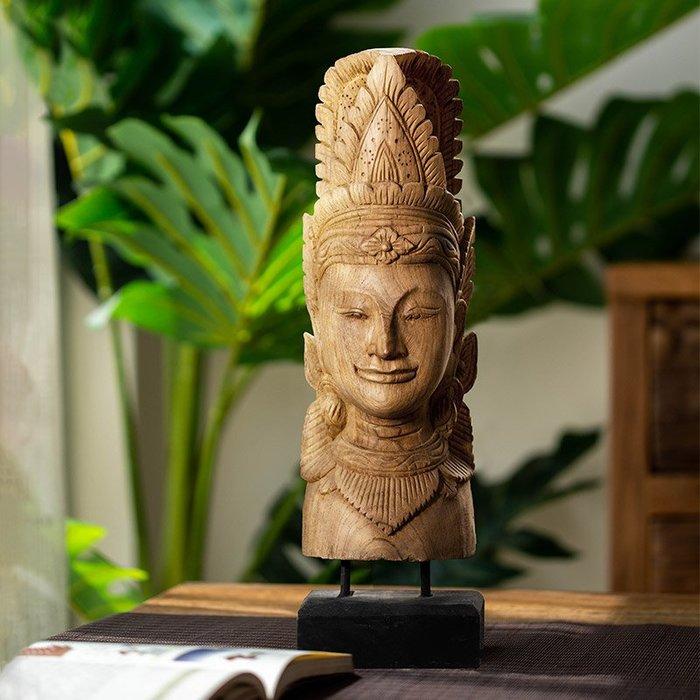 裝飾擺件 裝飾品 異麗泰式佛頭擺件禪意佛像擺設客廳玄關會所招財擺件鎮宅餐廳裝飾