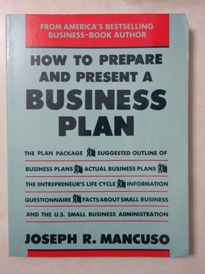 ♫A家家♫ How to prepare and present a business plan 作者: Joseph