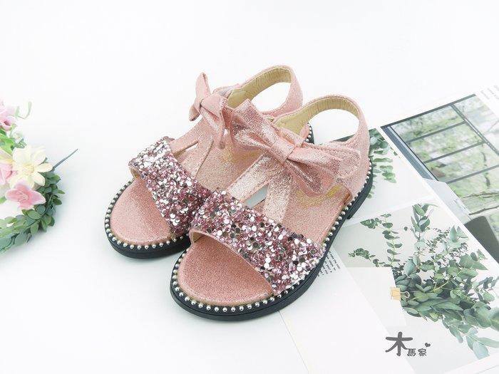 [木馬家](16-20公分)(3-7歲)璀璨公主女童涼鞋 當季新款