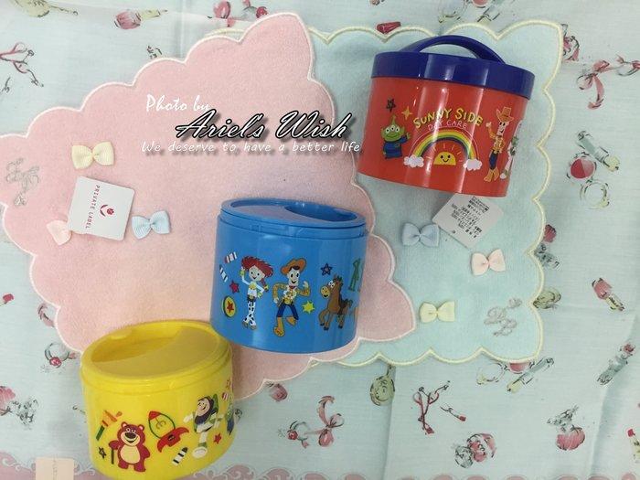 Ariel's Wish-日本東京迪士尼玩具總動員三眼怪三層便當盒餐具盒野餐盒奶粉分裝瓶首飾品收納盒-日本製-最後一組