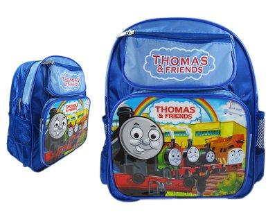 【卡漫迷】 Thomas the Train 後背包 高約30cm ~ 湯瑪士小火車 兒童用 小 書包 蒸汽火車頭