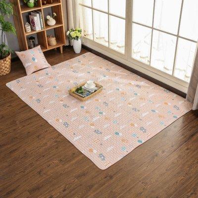 ☜男神閣☞北歐簡約全棉滿鋪爬行榻榻米地墊兒童臥室地毯床邊墊可機洗