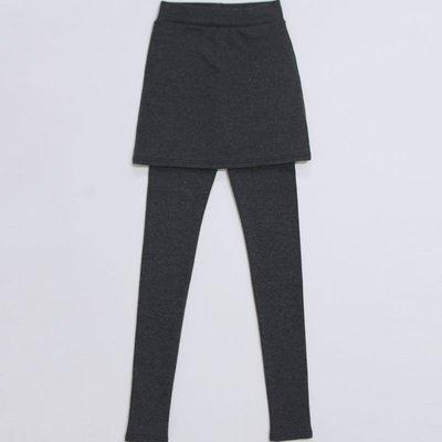Girlmonster 正韓 假兩件式內搭褲 / 貼腿褲 (黑色 /淺灰/深灰)  【A0139】