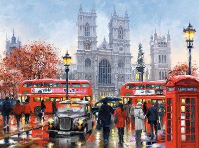 歐洲拼圖 CAS.繪畫風景 英國 倫敦 西敏寺 歐洲街道 3000片拼圖,300440