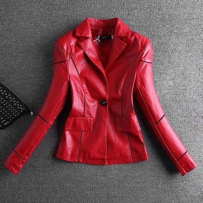 皮衣 顯瘦女短款韓版修身時尚皮夾克機車外套 交換禮物