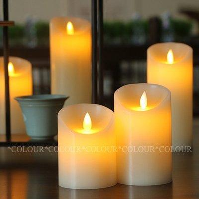 LED 15CM*直徑7.5CM  電池款 仿真電子蠟燭火苗搖擺晃動 無煙汙染各式佈置 ※ COLOUR歐洲生活家居 ※