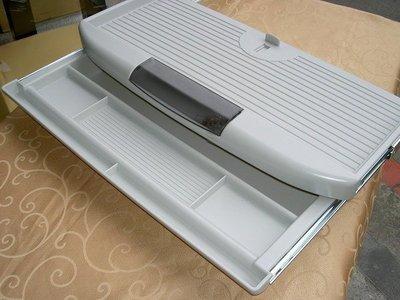 【40年老店 金匠秀有店面】全新【台灣製】【2合一塑鋼ABS塑鋼滑軌式 電腦鍵盤架+中抽屜】
