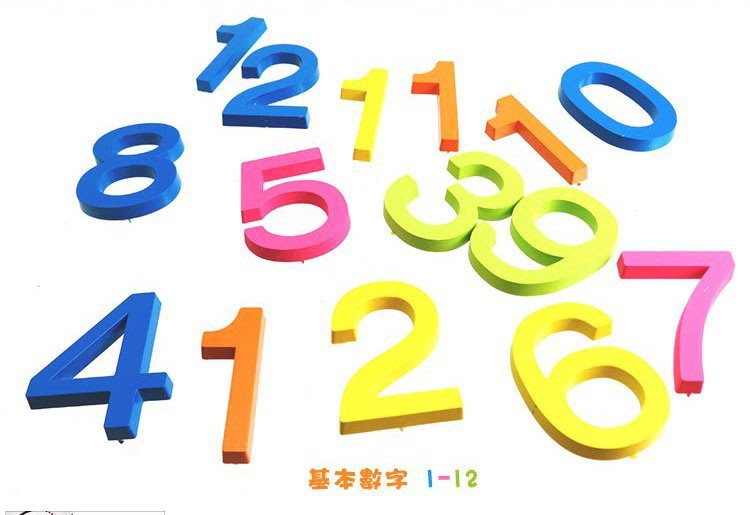 【鐘點站】DIY 時鐘 掛鐘 鐘面零配件 彩色數字 (數字1~12)