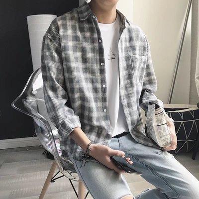 Chita Man + 經典格紋 寬版落肩 休閒襯衫 三色 2入1300