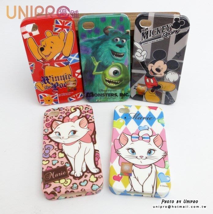 【UNIPRO】iPhone 4 4S  迪士尼卡通手機殼 TPU 軟殼 手機殼 保護套 米奇 維尼 瑪麗貓