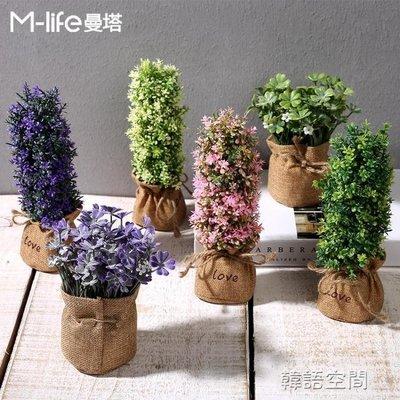 創意模擬小植物盆景擺件綠植假盆栽餐廳擺設客廳臥室軟家居裝飾品