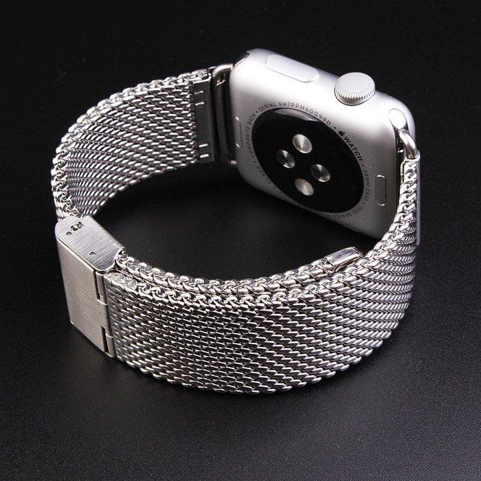 手表帶金屬不銹鋼 回環運動米蘭尼斯iwatch連接器手錶配件 錶帶 男女錶帶 真皮 鋼帶 帆布