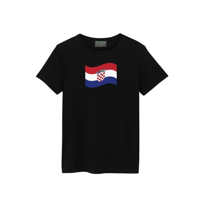 T365 Croatia 克羅埃西亞 國家 國旗 飄揚 T恤 男女皆可穿 多色同款可選 短T 素T 素踢 TEE 短袖