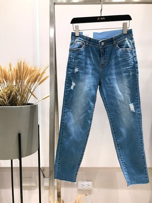 ✽JoBella 韓國空運 韓國代購 韓貨✽ 微破壞直筒牛仔褲 現貨+預購 j86010