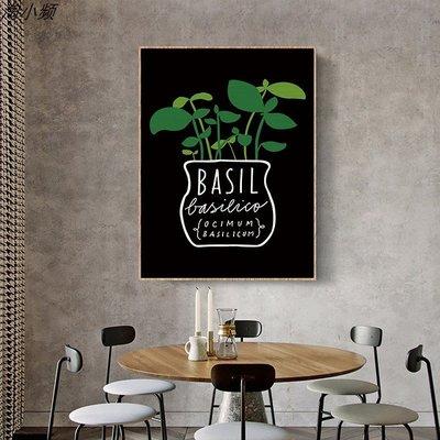 現代簡約客廳沙發背景牆畫芯玄關臥室掛畫畫心時尚綠植(3款可選)