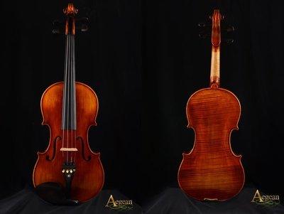 【嘟嘟牛奶糖】Aegean.高檔虎紋手工小提琴.10號琴.精緻嚴選.世界唯一限量