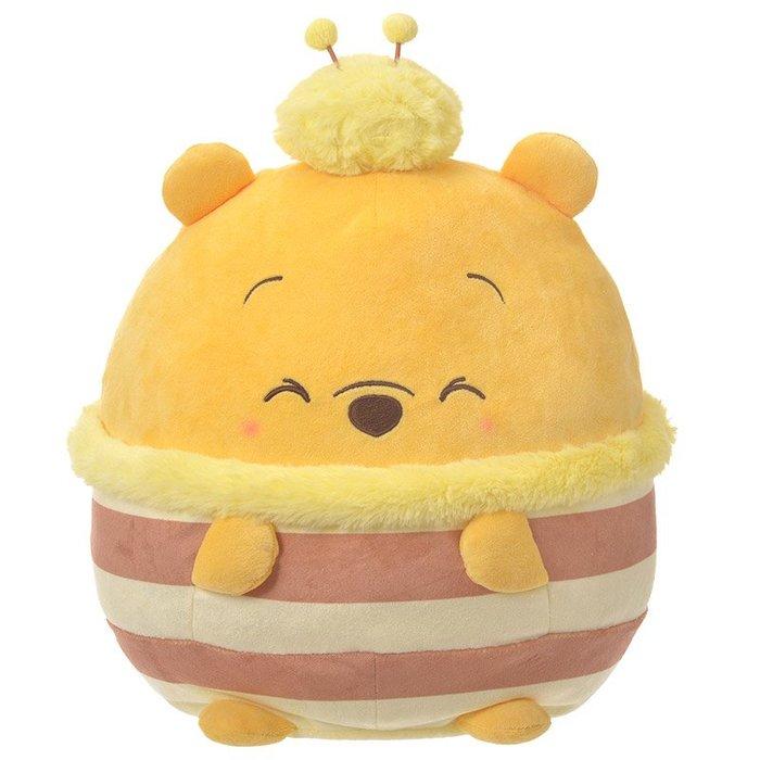 代購現貨  日本迪士尼ufufy 小熊維尼抱枕玩偶