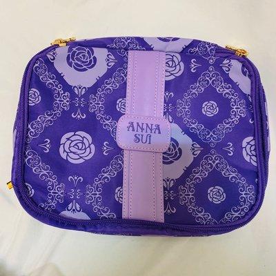 【 安娜蘇化妝包 】岀清全新 紫色 化妝 彩妝 收納 工具 Anna sui 包包 美容 少女 學生 專櫃贈品 限量1件 新秘 旅遊  網紅 上班族