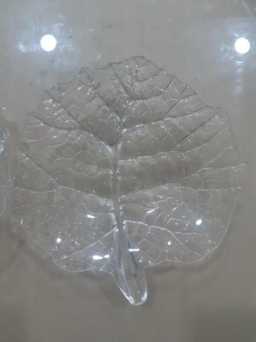 《全新品》葉子造型 水晶塑料 點心盤 水果盤