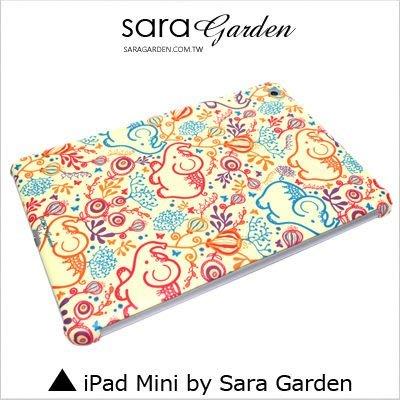 iPad Mini 1 2 3 4 客製化 保護殼 南洋風 碎花 大象【G389】