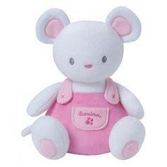 ☆奇奇娃娃屋(DL)☆法國luminou品牌,新科技布料~會發光的寶寶安撫玩偶~粉色老鼠(小)~200元
