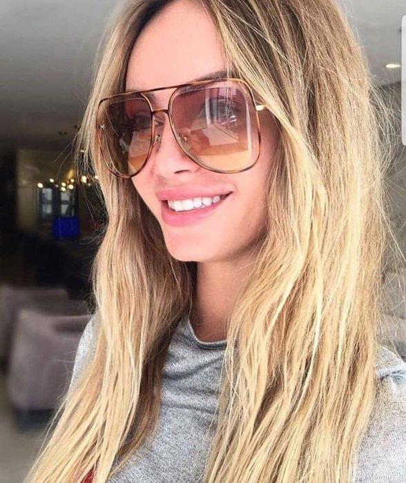 Chloe 新款立體鏤空飛行員款金屬玳瑁色太陽眼鏡 茶色漸層鏡片 孫芸芸同款 時尚必備單品 CE130S 213 公司貨