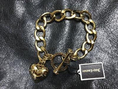 ☆°全新品☆° 美國最新款 juicy couture 愛心手鍊 - 金色 最後一條 特價!