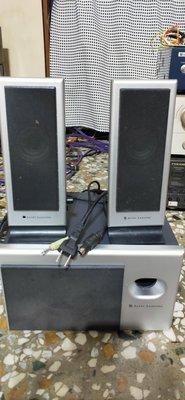 ALTEC LANSING VS-2121  2.1聲道重低音多媒體電腦喇叭 -功能正常