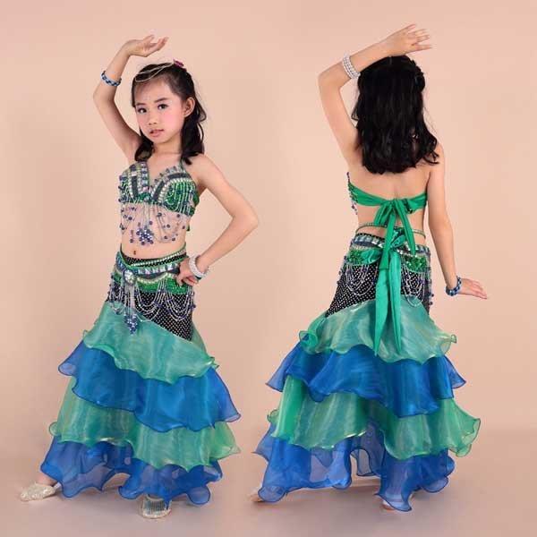 5Cgo【鴿樓】會員有優惠  44513247823 舞姿娘 兒童肚皮舞套裝 肚皮舞服裝 表演舞蹈服裝 少兒演出服