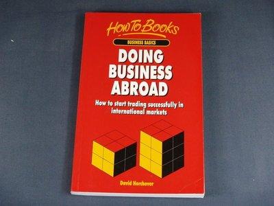 【懶得出門二手書】 《DOING BUSINESS ABROAD》David Horchover│九成新(11C36)