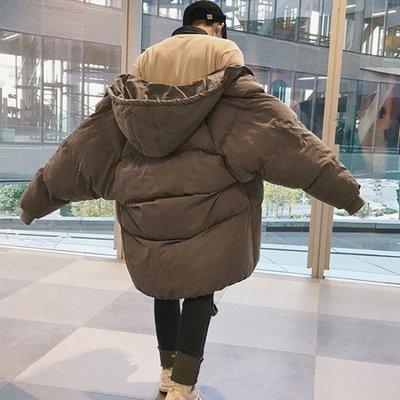 羽絨服 棉衣男冬季外套男士中長款韓版棉襖寬鬆加厚面包服男冬裝羽絨棉服   全館免運