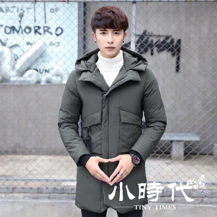 羽絨服 棉服 冬季反季加厚男中長款清倉特價款修身潮流青年外套