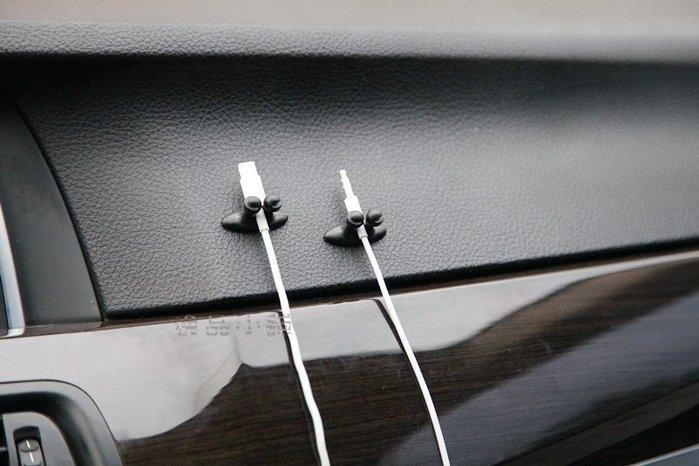 YP逸品小舖 車用束線夾 車用線扣 集線扣 8入裝 整線夾 固線夾 整理夾 耳機排線夾 充電線夾 充電線扣 導航線整理