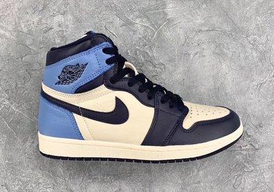 NIKE Air Jordan 1 High黑曜石Obsidian北卡藍UNC大童575441-140女鞋GS喬丹AJ1