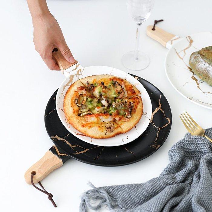 MAJPOINT*盤 碟 披薩 托盤 復古 北歐 描金 大理石紋 創意料理 美食 餐盤 餐具 西餐 鬆餅 水果拼盤 IG