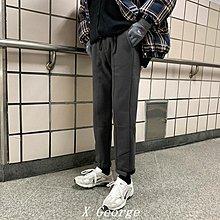 ``X George''【秒殺】 新款棉褲衛褲慵懶寬松直筒奶奶褲魔術貼