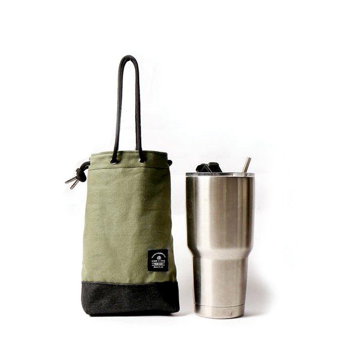 點子包【icleaXbag】飲料提袋 簡約飲料隨行袋 手搖 小物袋 小酒袋 無塑 可刻字 蘋果綠 DG31