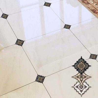 千夢貨鋪-臥室地板磚裝飾地面對角貼紙防...