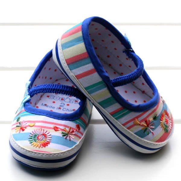 寶貝倉庫~藍蝴蝶結氣質公主鞋~學步鞋~膠底鞋~韓款鞋~童鞋~促銷價1雙220