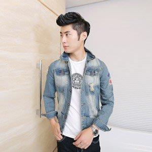 yes99buy加盟-2014秋裝새로운 男式韓味潮流撞色個性水洗牛仔時尚夾克 外套