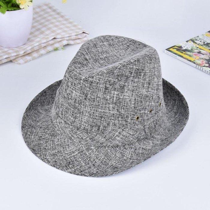 男帽子 紳士帽 新款時尚復古 街頭潮帽 春夏季透氣個性卷邊帽子 禮帽yx440