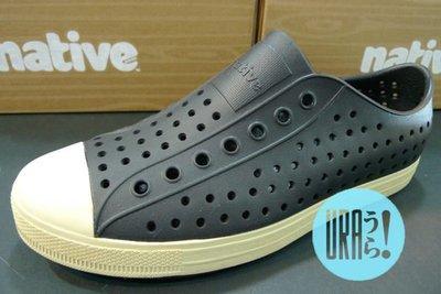 【URA 現貨】士林經銷 加拿大潮流鞋 Native jefferson JIFFY BLACK 黑色 奶油底 懶人鞋