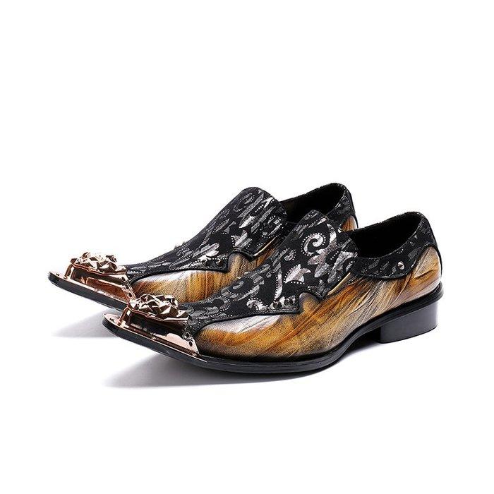 **蛻變英倫**韓國限定版連線熱賣高品質訂製歐美頂級款獨創潮流春夏男士尖頭皮鞋男個性透氣磨砂皮厚底2020髮型師真皮鞋子