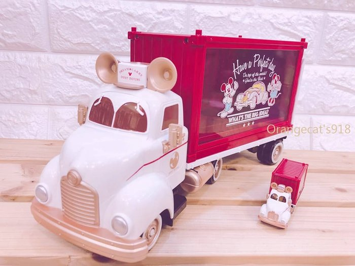 限量 日本 正版 TOMICA 多美 10週年紀念款 米奇貨櫃車 米奇收納車 加送小車一台 迪士尼
