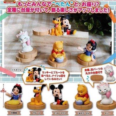 T-ARTS 扭蛋 轉蛋 迪士尼 休眠 迪士尼坐姿公仔 白雪公主 米奇 維尼 布魯托 瑪麗貓 全5種